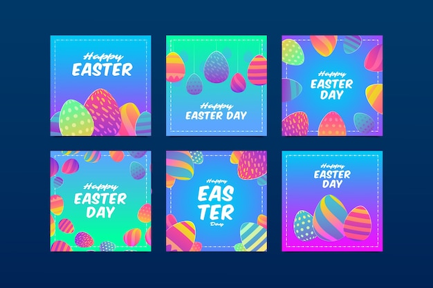 Collection insta post le jour de pâques