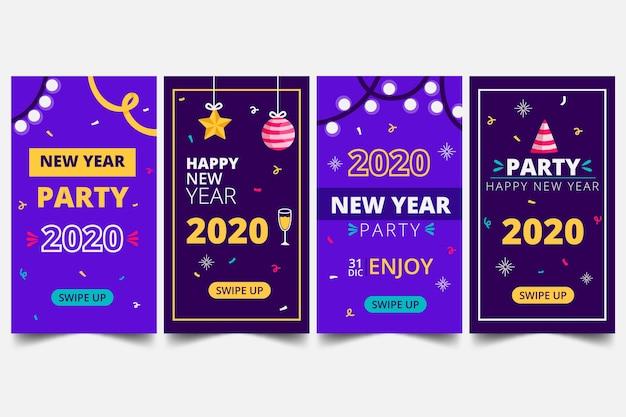 Collection d'instagram party party du nouvel an 2020