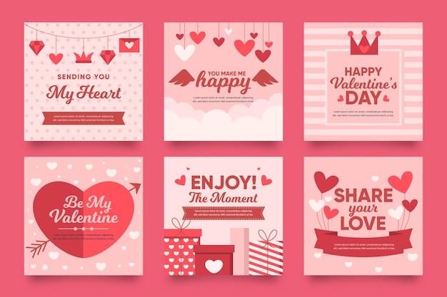Collection instagram de la saint-valentin