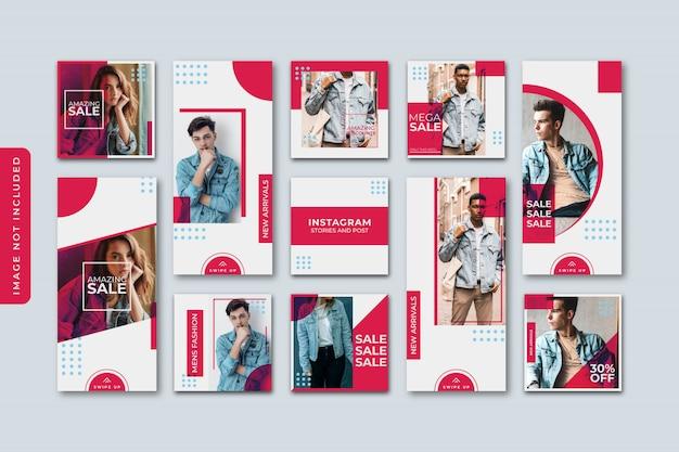 Collection instagram de vente de mode abstraite