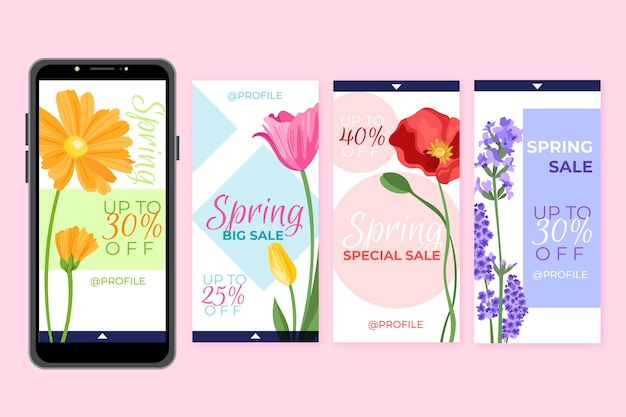 Collection instagram de vente de printemps