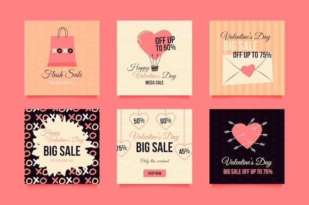 Collection instagram de vente de la saint-valentin