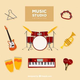 Collection d'instruments de musique