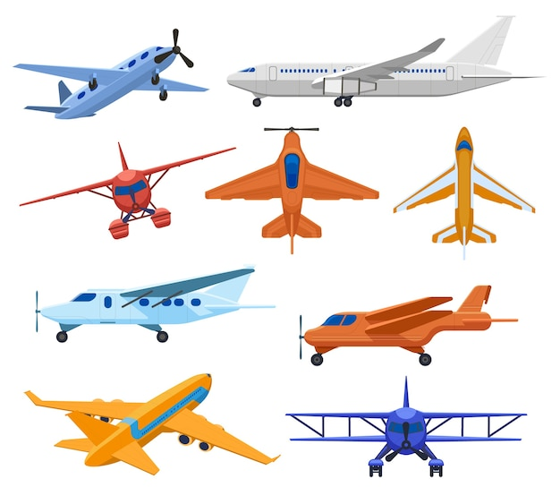 Collection de jets d'avion