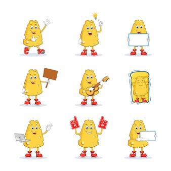Collection de jeu de caractères mascotte de dessin animé