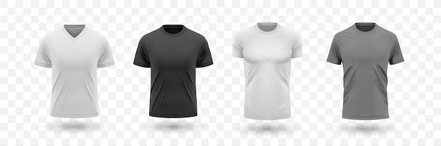 Collection de jeu de chemise masculine réaliste