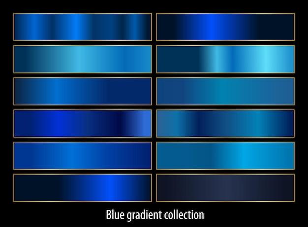 Collection de jeu de dégradés bleus abstraits