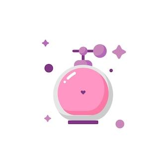 Collection de jeu d'icônes de parfum de corps mignon isolé