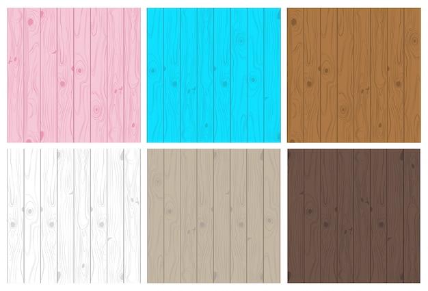 Collection de jeu de modèle sans couture de texture en bois clair et foncé