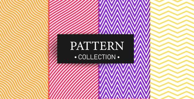 Collection de jeu de motifs de lignes géométriques minimales