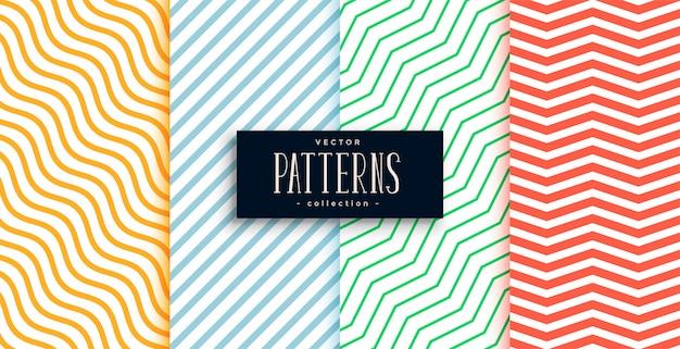 Collection de jeu de motifs de lignes minimales géométriques