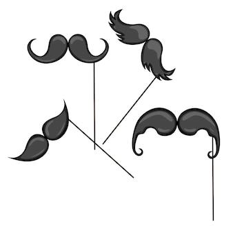 Collection de jeu de moustache