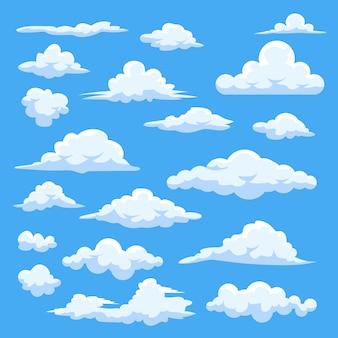 Collection de jeux de nuages