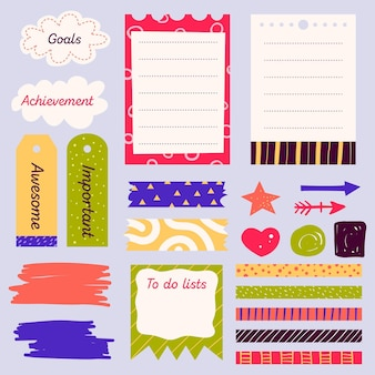 Collection de jeux de scrapbooking planificateur