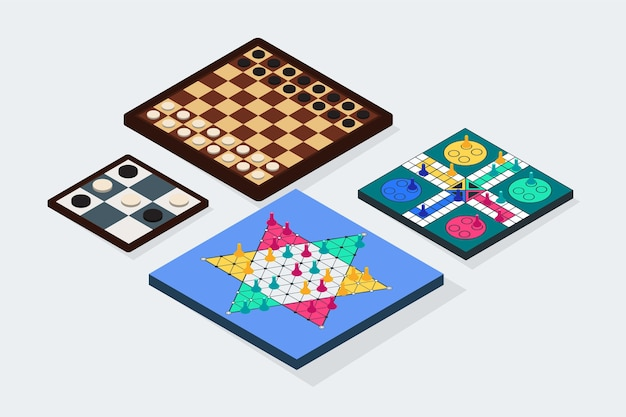 Collection de jeux de société illustrés