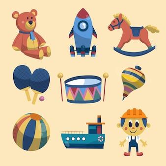 Collection de jouets de noël dessinés à la main