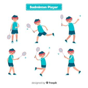 Collection de joueurs de badminton