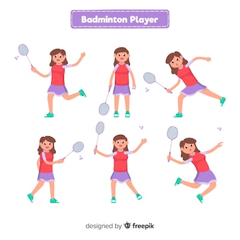 Collection de joueurs de badminton