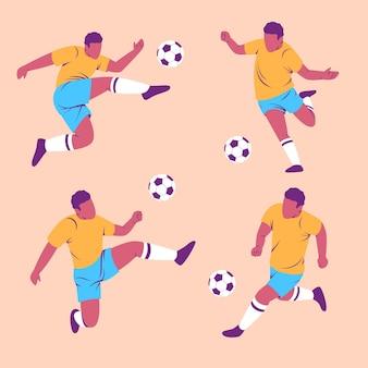Collection de joueurs de football à plat