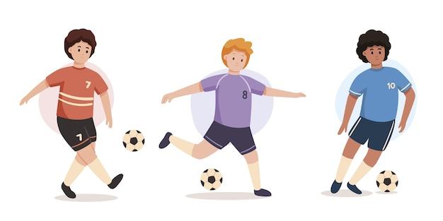 Collection de joueurs de football
