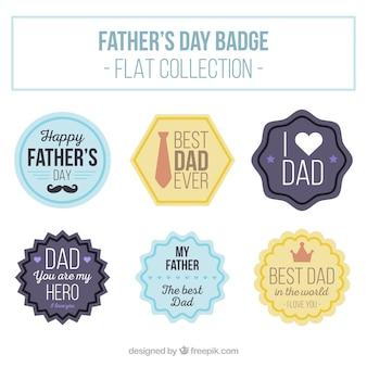Collection de jour autocollants du père