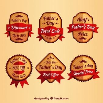 Collection de la journée vente badge de plat père