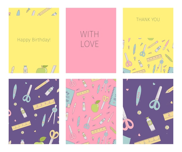 Collection de joyeux anniversaire