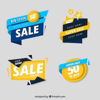 Collection de label / badge plat vente
