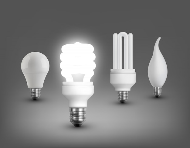 Collection de lampes réalistes