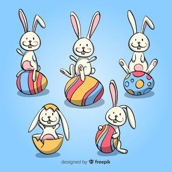 Collection de lapin de pâques