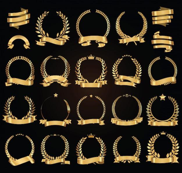 Collection de lauriers dorés