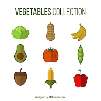 Collection de légumes de couleur