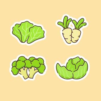 Collection de légumes isolé sur beige