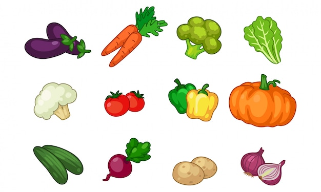Collection de légumes