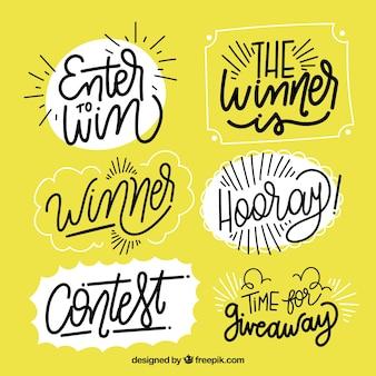 Collection de lettrage créatif pour concours