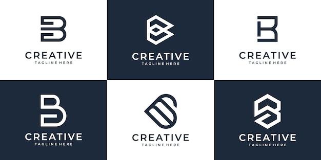 Collection de lettre b symbole d'entreprise créatif pour l'entreprise