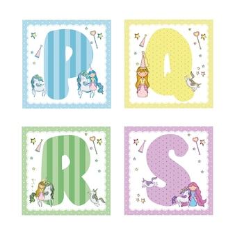 Collection de lettres de l'alphabet pour les enfants