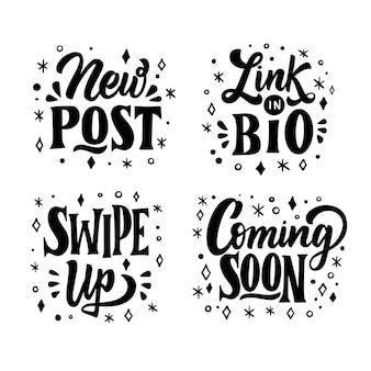Collection de lettres de médias sociaux