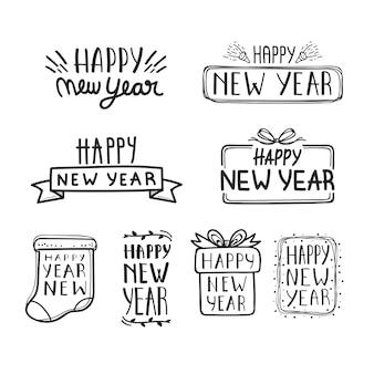 Collection de lettres pour le nouvel an 2020