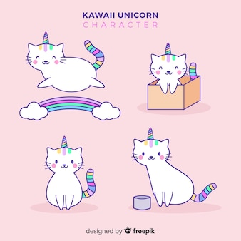 Collection de licornes kawaii
