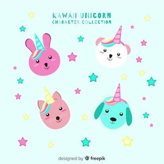 Collection de licornes kawaii