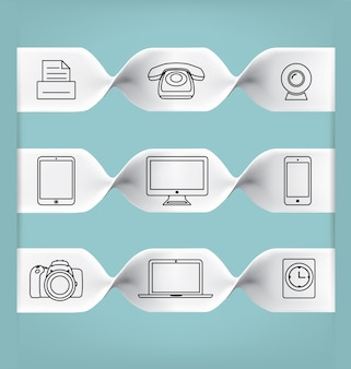 Collection ligne d'icônes