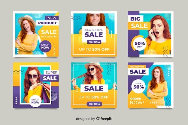 Collection en ligne avec offres promotionnelles
