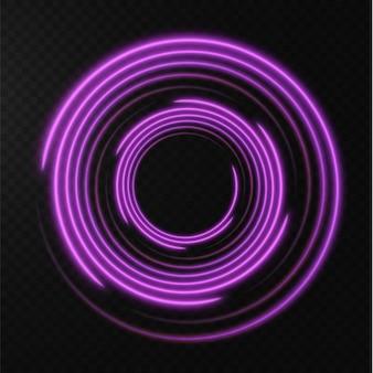 Collection de lignes de demi-teintes rose clair lignes vectorielles roses radiales de vitesse illustration vectorielle