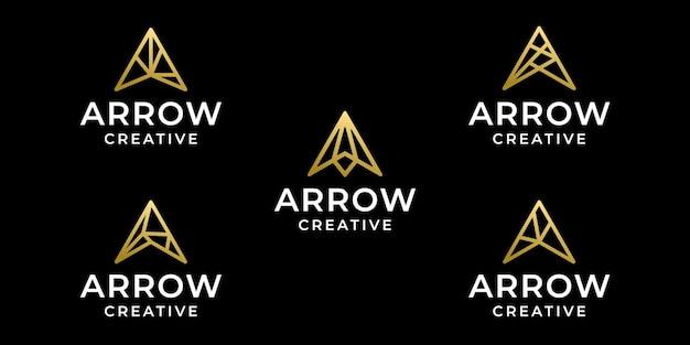 Collection de lignes de logo monogramme flèche
