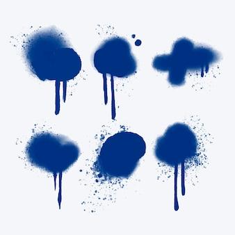 Collection de lignes de pulvérisation et de gouttes peintes à la main