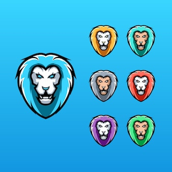 Collection lion logo