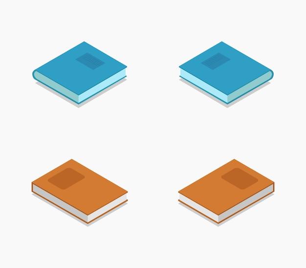 Collection de livres isométrique
