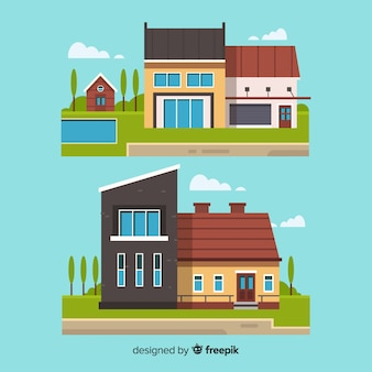 Collection de logements design plat