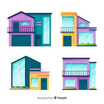 Collection de logements modernes au design plat